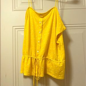 Yellow universal thread tank top